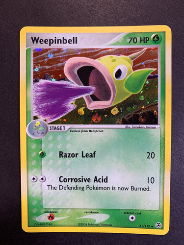 Weepinbell - 51/112 Reverse Holo - Fire Red Leaf Green Set