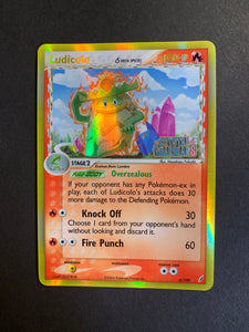 "Ludicolo - 6/100 ""Stamped"" Reverse Holo Rare - Crystal Guardians"