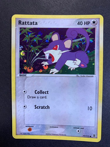 Rattata - 77/112 Reverse Holo - Fire Red Leaf Green Set
