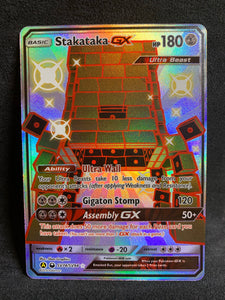 Stakataka GX - SV74/SV94 Shiny Full Art Rare - Hidden Fates