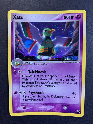 "Xatu - 49/115 ""Stamped"" Reverse Holo - Unseen Forces"