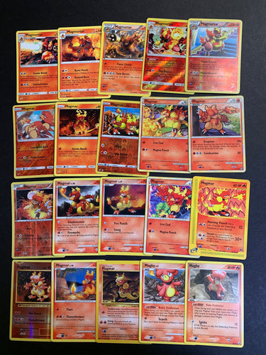 Pokemon Magby, Magmar & Magmortar Card Lot - 20 Cards - Holo, Rare & Vintage