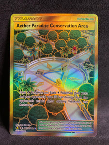 Aether Paradise Conservation Area - SV87/SV94 Gold Shiny Ultra Rare Trainer - Hidden Fates