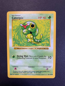 Caterpie - 45/102 Shadowless Base Set