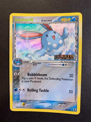 "Azumarill - 19/113 ""Stamped"" Reverse Holo Rare (Delta Species)"