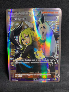 Delinquent - 98b/122 Full Art Ultra Rare Trainer Promo