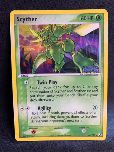 "Scyther - 46/115 ""Stamped"" Reverse Holo"