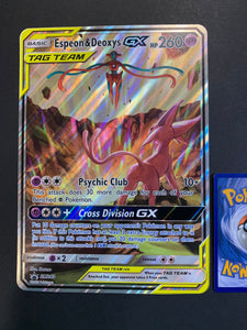 Jumbo Espeon & Deoxys GX - SM240 Full Art Ultra Rare Promo (Tag Team)