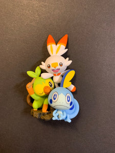 Scorbunny, Sobble & Grookey Figure - Pokemon Sword & Shield Collection Box