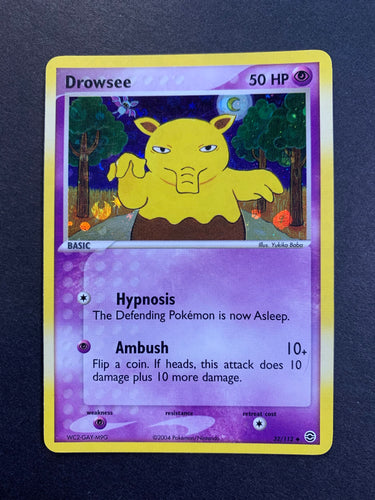 Drowsee (Error) - 32/112 Reverse Holo - Fire Red Leaf Green Set