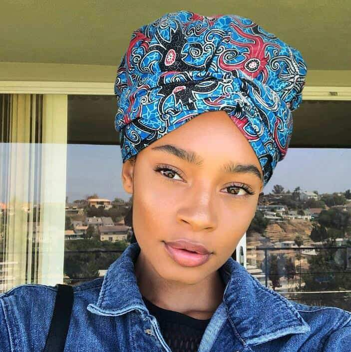 African Print Headwrap with Satin-Lined AC1135