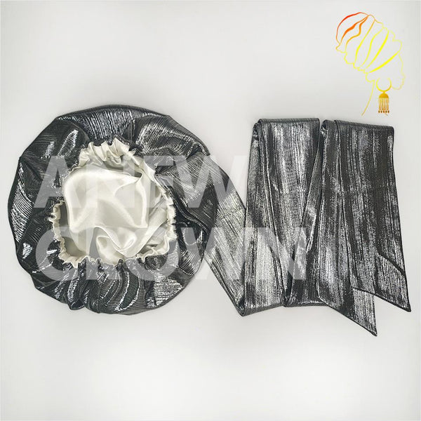 Solid Color Satin-Lined Silver Lining Headwrap