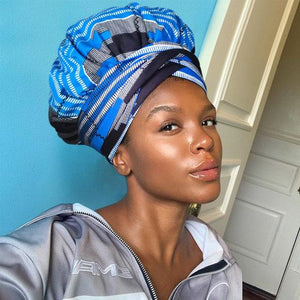 African Print Headwrap with Satin-Lined AC1161