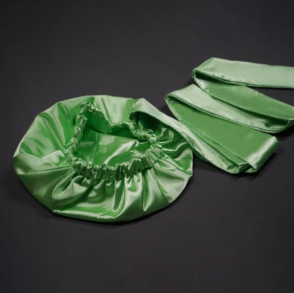 Solid Color Satin-Lined Green Island Silk Headwrap