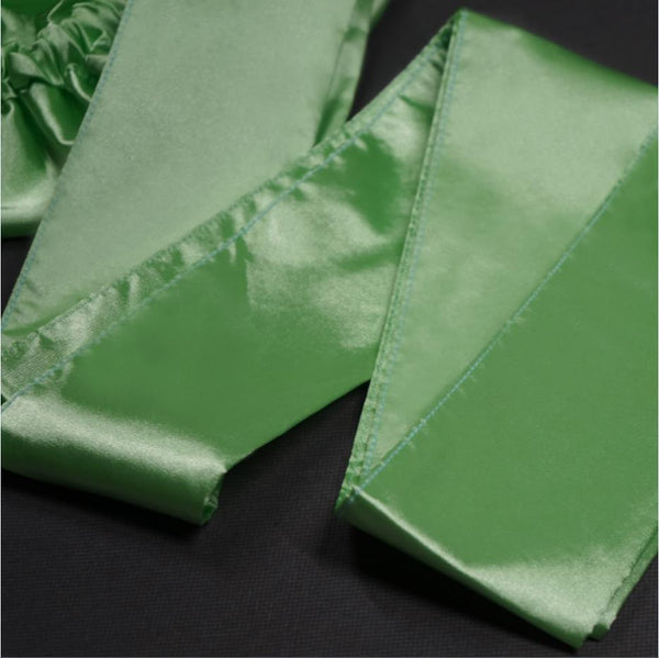 Solid Color Satin-Lined Green Island Silk Headwrap AC1804