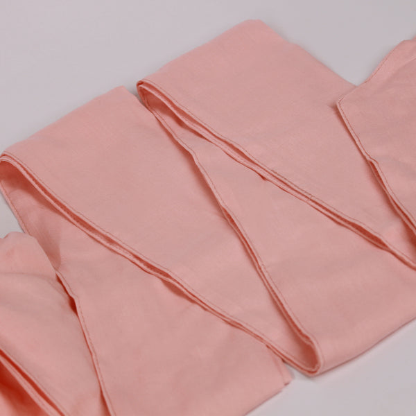 Solid Color Satin-Lined Pink Cupcake Linen Cotton Headwrap