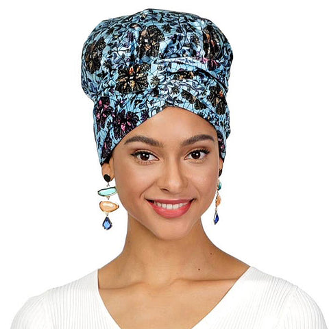 African Print Satin-Lined Headwrap AC1960