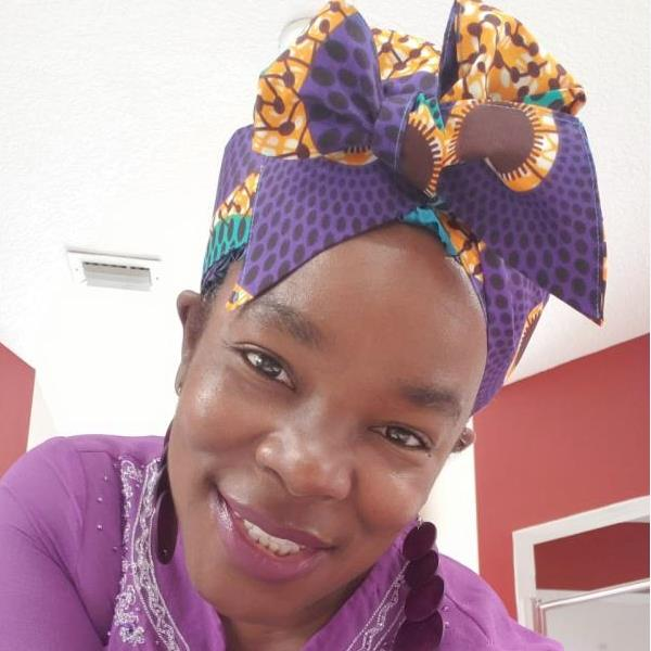 African Print Satin-Lined Purple Power Silk Headwrap
