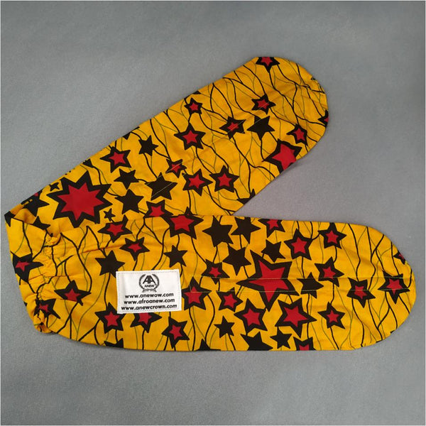 Yellow Star Set of 2 (Headband + Headwrap)