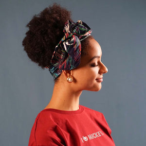Afro Forest Soft Cotton Wire Headband