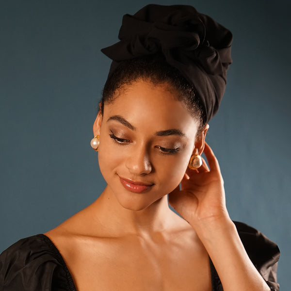 Easy To Tie Up/Black Pearl Headwrap