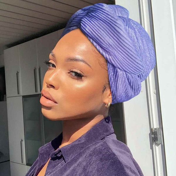 Easy To Tie Up/Dazzle Purple Headwrap (Non Wired)