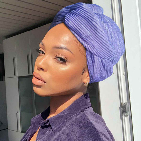 Easy To Tie Up/Dazzle Purple Headwrap (Non Wired) AC6006