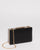 Black Saffiano Jaimi Clutch Bag With Gold Hardware