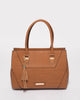 Tan Demi Tassel Tote Bag