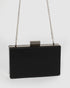 Black Sally Smooth Hardcase Clutch Bag