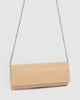 Nude Patent Nolene Plain Clutch Bag
