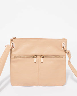 Beige Keya Small Bag With Gold Hardware