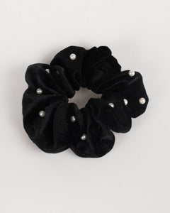 Black Hair Scrunchie With Ball