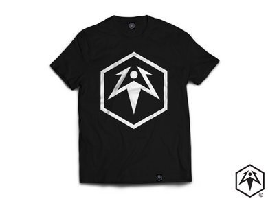Hex Leaf T-Shirt - Black