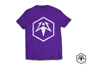 Hex Leaf T-Shirt - Purple