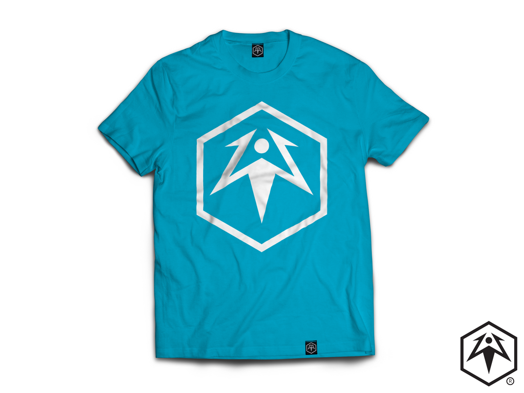 Hex Leaf T-Shirt - Aqua