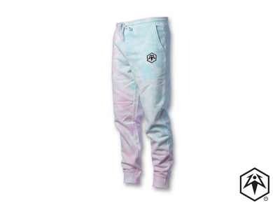 Tie Dye Hex Leaf Embroidered Joggers