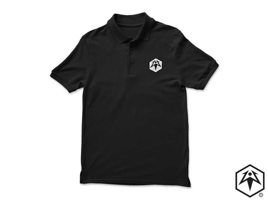 Embroidered Hex Leaf Polo Shirt