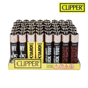 Clipper Funny Saying Lighters (48 Count)