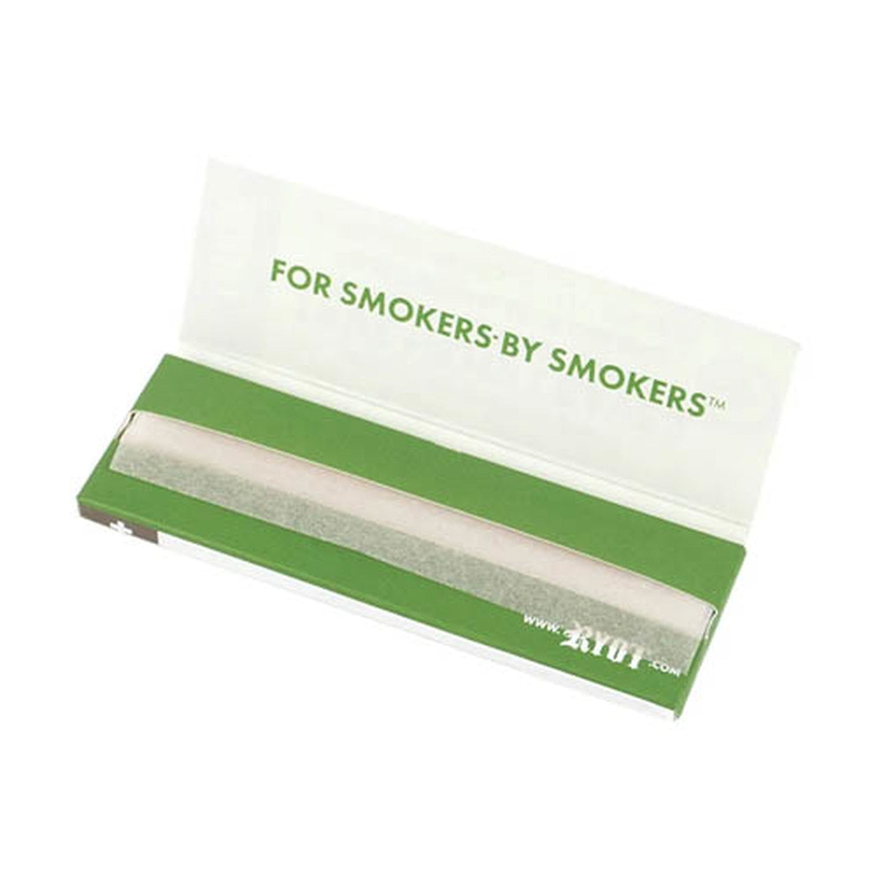 "RYOT Rolling Papers 1 1/4"" Organic True Hemp Leaves - ""For Smokers"" Graphic (25pc Display)"