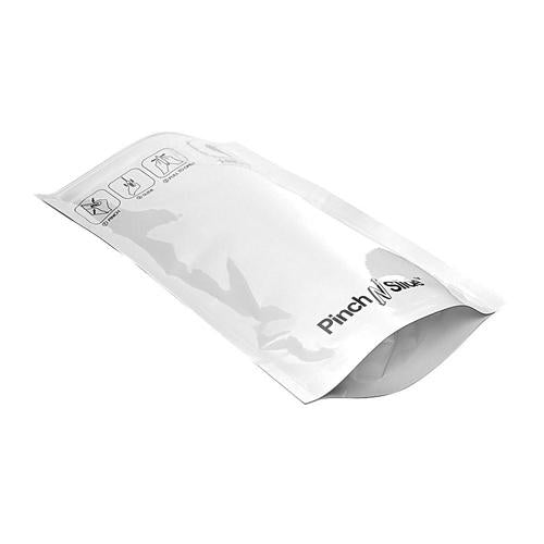 "Mylar Bag Child Resistant Pinch & Slide Bag 3.5"" x 5"" White (50, 100 and 250 Count)"