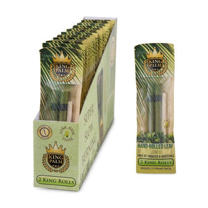 King Palm Hand Rolled Leaf - King Rolls 2pk (Display Box of 24 Units)