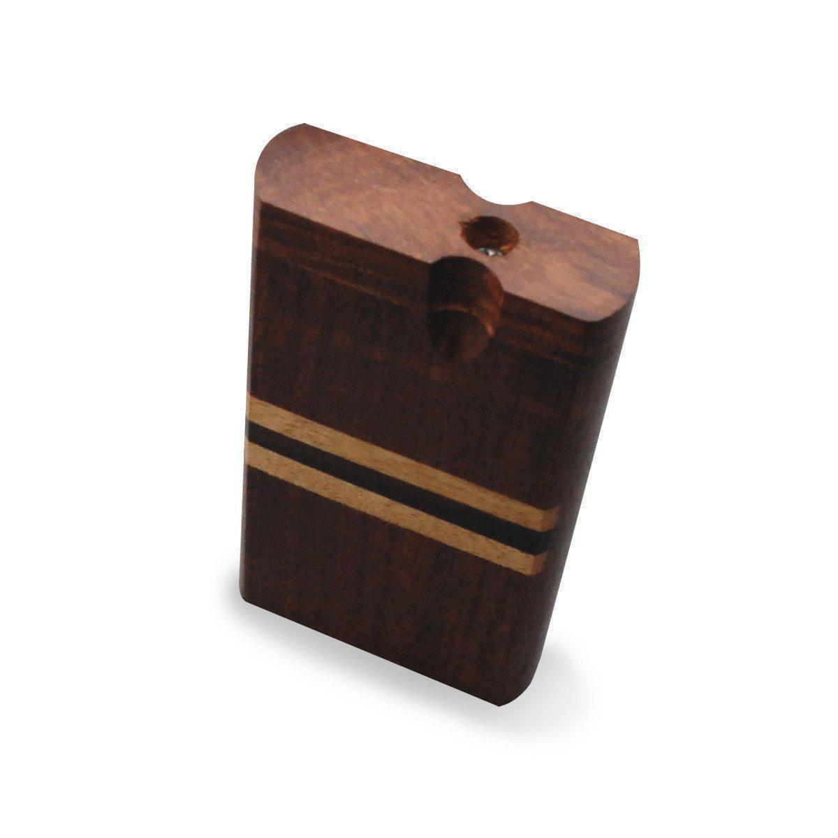 "4"" Swivel Cap Wooden Dugout - Black Stripe"