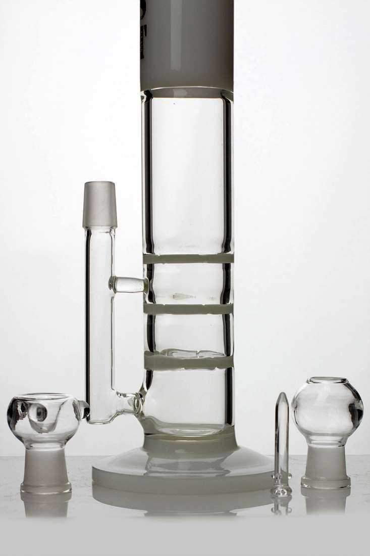 "13"" ghost 2-in-1  triple flat diffused bubbler"