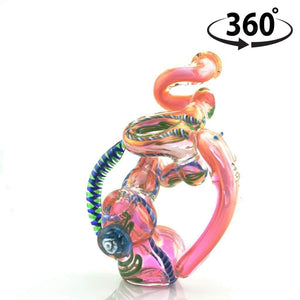 "8"" ""Dragon's Paw"" Glass Bubbler"