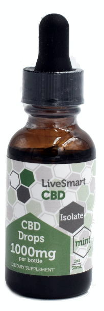 LiveSmart Hemp Oil Isolate Mint Drops (500mg, 1000mg, and 1500mg)