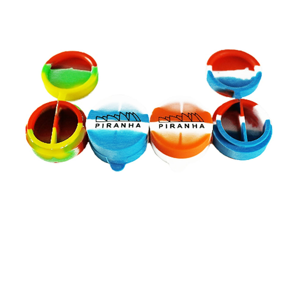 Piranha Silicone - Container - Flip Top Split - Assorted Colors