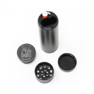 Allin1E Smoking System includes Herb Grinder, Storage, Tool and Cap (Count 1)