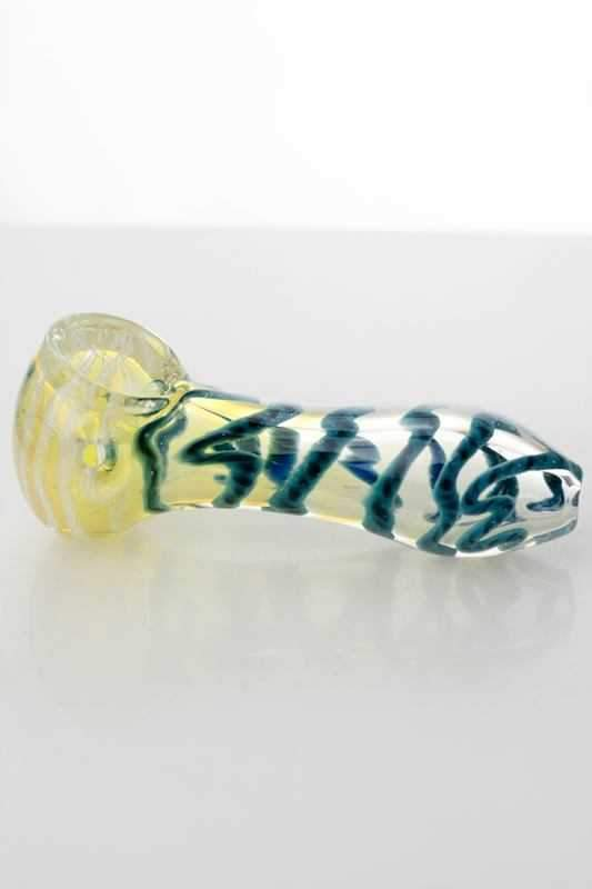 "3.5"" soft glass 3488 hand pipe"