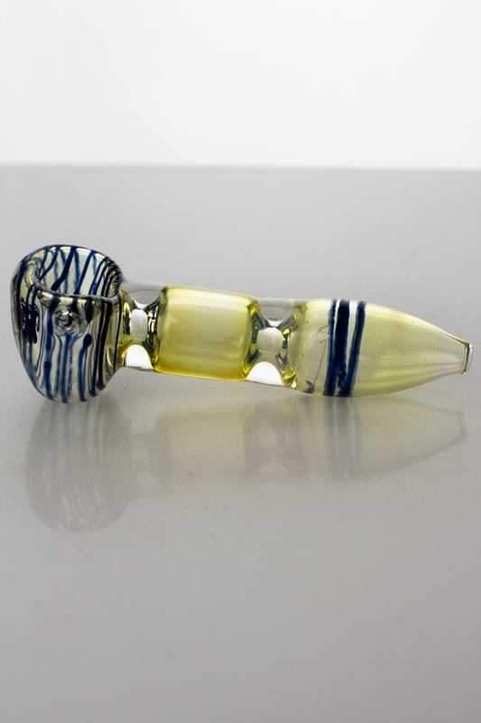 Changing colors glass hand pipe